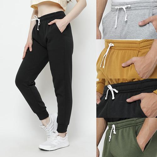 Foto Produk Hoodieku Sweatpants Celana Hangat Pria - 5 Varian Warna - Hitam, M dari hoodieku official