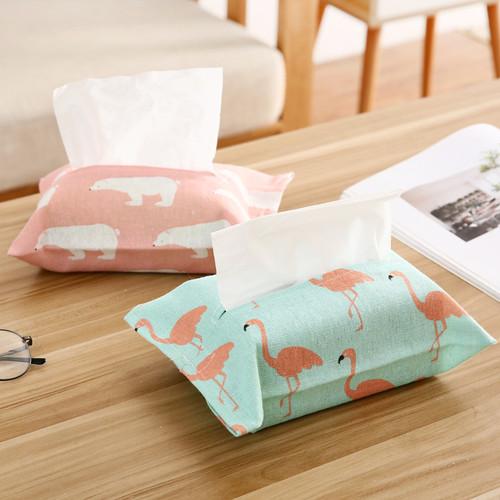 Foto Produk Kantong Kain Tissue / tempat tisu / tempat penyimpanan tisu - Pink Beruang dari MitraBotol
