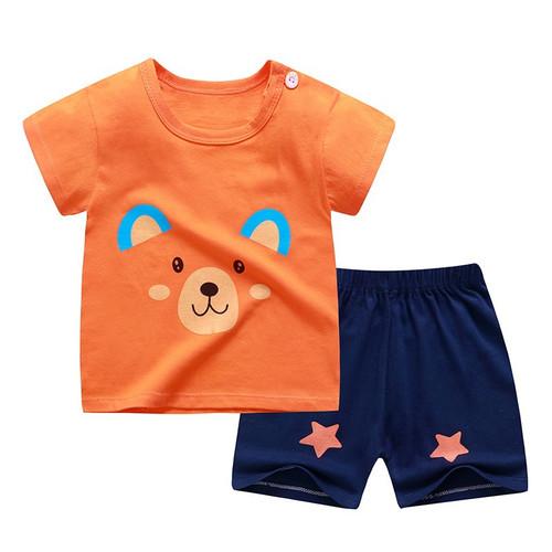 Foto Produk (0-2 Thn) Setelan Baju Bayi Import Pakaian Bayi Baju Anak Kaos - Orange, 3-6 Bulan dari CherryId18