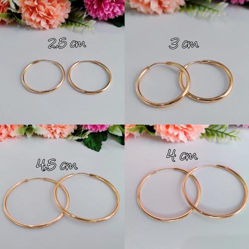 Foto Produk Anting Titanium Bulat Wanita Model Simple - Emas/Gold22k, 2,5 dari xupblinkJewelry