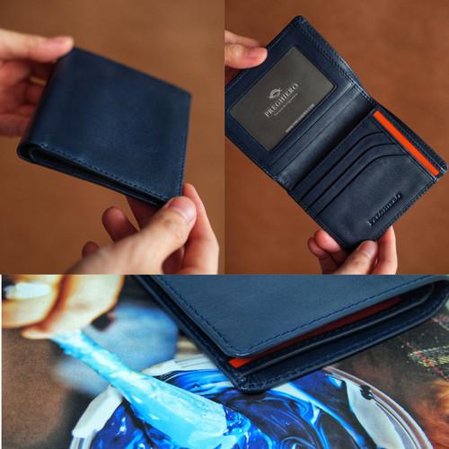 Foto Produk Preghiero Note 2 Slim Wallet Genuine Leather - Deep Blue dari Preghiero Official