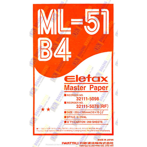 Foto Produk Master Paper Elefax / Kertas Master Elefax ML-51 ukuran B4 dari dctylles