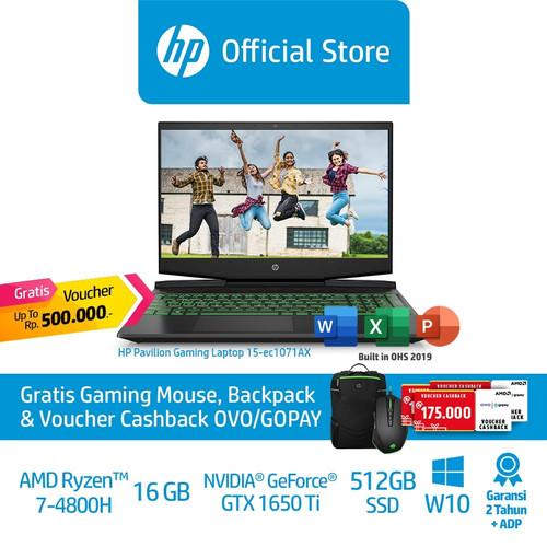 Foto Produk HP Pavilion Gaming 15-ec1071AX Laptop/Ryzen 7/16GB/NVIDIAGTX1650/512GB dari HP Official