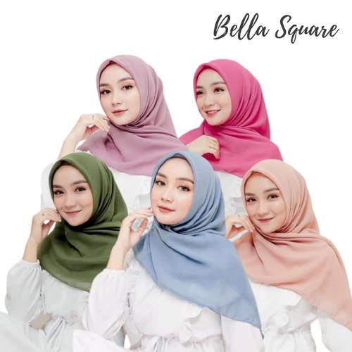 Foto Produk Bella square   kerudung   potton   hijab segi empat   double hycon - GREY dari Jestha Pedia
