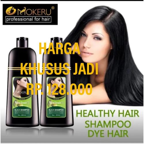Foto Produk MOKERU SHAMPOO HERBAL BLACK HAIR MAGIC PEWARNA RAMBUT dari Toko Berhan