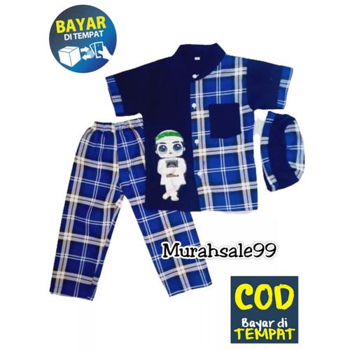 Foto Produk Baju Stelan Koko Turki LED Anak Terbaru dan Termurah Usia 1 - 9 Tahun - Navy, M dari DasaaStore
