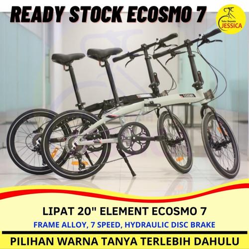 Foto Produk Sepeda Lipat 20 Element Ecosmo 7 speed Disc Brake Folding Bike Murah dari Sepeda Jessica