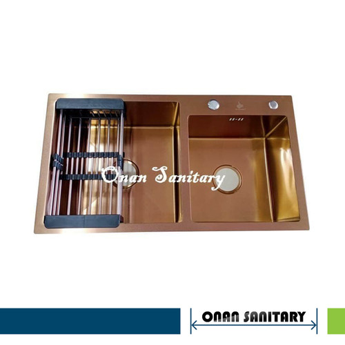 Foto Produk Kitchen sink / Bak cuci piring GOLDEN HAND 8245 Maroon Gold dari ONAN Sanitary