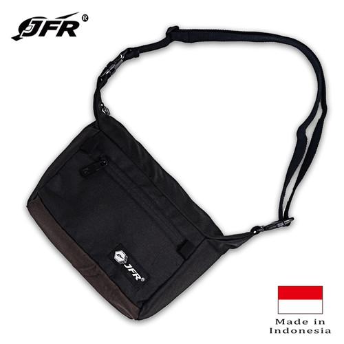Foto Produk JFR Tas Selempang Sling Bag Bahan Polyester JT24 - Hitam dari Jennifer Wallet