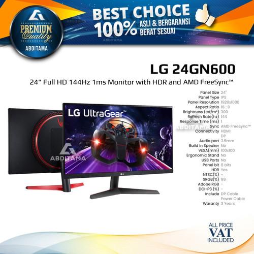 "Foto Produk Monitor LED LG 24GN600 24"" IPS 1080 144hz 1ms HDMI DP HDR10 dari Abditama Official"