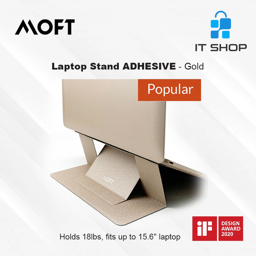 Foto Produk MOFT Laptop Stand Adhesive - Gold dari IT-SHOP-ONLINE
