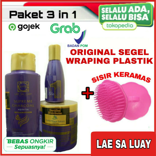 Foto Produk LAE SA LUAY BPOM PAKET 3 IN 1 SUPER SMOOTH HAIR / MASKER RAMBUT / SHAM dari kios hapeku