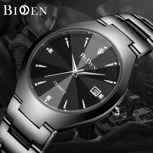 Foto Produk jam tangan pria BIDEN Bisnis Mewah Otomatis Date Tahan Air Kuarsa jam - Hitam dari BIDEN Official Store
