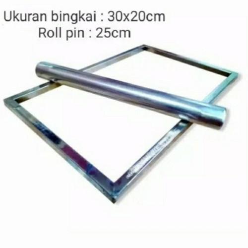 Foto Produk Bingkai Adonan Kue Kering Stainless 30x20 & 40x30cm - 30x20cm dari SZtore