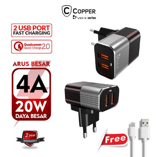Foto Produk Charger Copper 2 port VX-07 4.0A dari Copper Indonesia