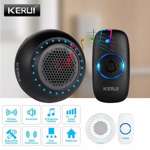 Foto Produk KERUI M523 Bel Pintu Rumah Wireless Waterproof Multi Tone Memory - Hitam dari Asyam Weiseman