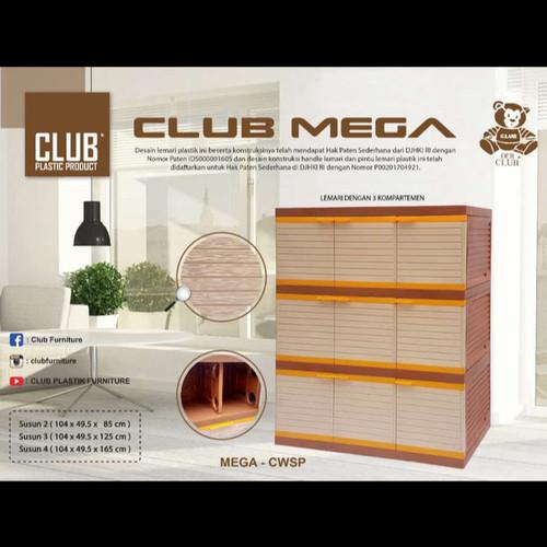 Foto Produk Lemari Plastik Club Mega 3 Susun 9 Pintu Coklat dari Mebel Plastik.Mks