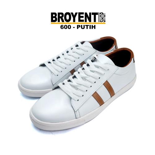 Foto Produk Sepatu Sneakers Casual Kulit putih asli 600 - Putih, 39 dari Broyent-shop