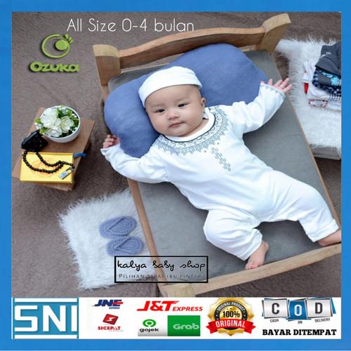 Foto Produk JUMPSUIT KOKO AKIKAH BAYI LAKI-LAKI BAJU KOKO MUSLIM BAYI BAHAN ADEM dari Kalya Baby Shop