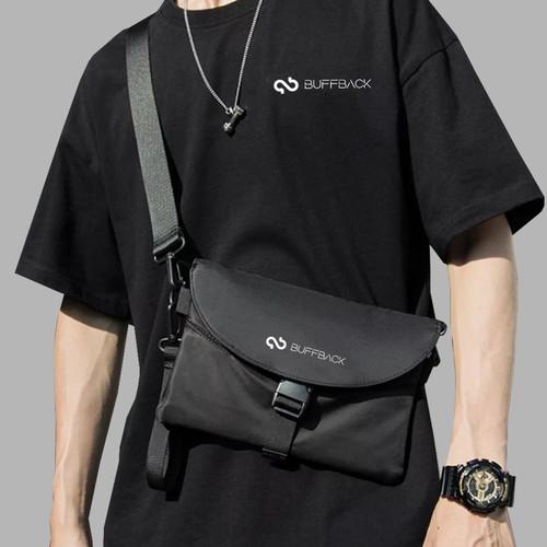 Foto Produk tas selempang terbaru pria slingbag Buffback - Hitam dari Studiobaju