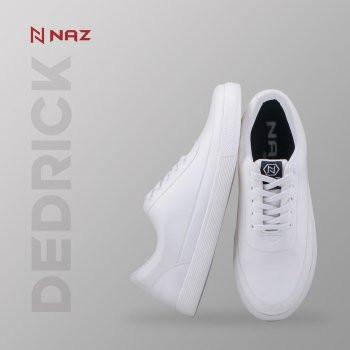 Foto Produk Sepatu unisex putih sneakers dedrick apn 001 sepatu kets casual santai - Putih, 38 dari quillasepatu