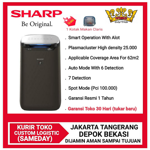 Foto Produk SHARP AIR PURIFIER FP-J80Y-H [Cover 62 m²]Smart Operation with AIot - NO BUBBLE WRAP dari DPRINCE