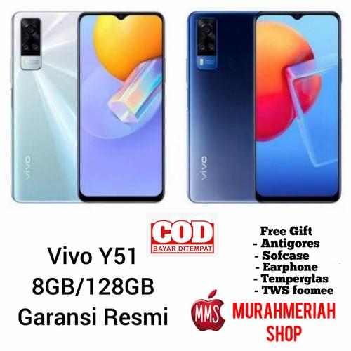 Foto Produk Vivo Y51 2020 8/128 Garansi Resmi - y51, blue dari murahmeriah shop