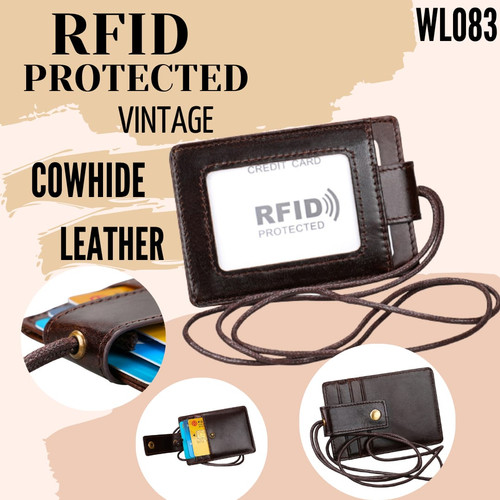 Foto Produk RFID PROTECTED / ID Card Holder RFID Kulit Asli Pria - WL083 dari ValVel shopp