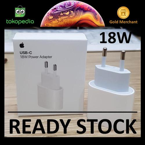 Foto Produk (ORIGINAL) Apple USB-C 20W / 18W Power Adapter iPhone 12 Fast Charger - 18 watt dari Big Berry Cellular