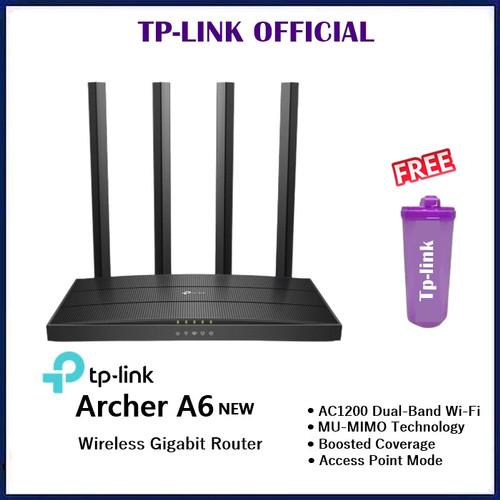 Foto Produk TP-Link Archer A6 AC1200 Wireless MU-MIMO Gigabit Router dari ORIGINAL IT SHOP