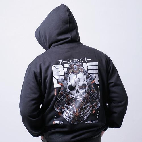 Foto Produk Bonecybr TECHRONIN: Unisex Hoodie Jumper_Black - M dari BONECYBR Official