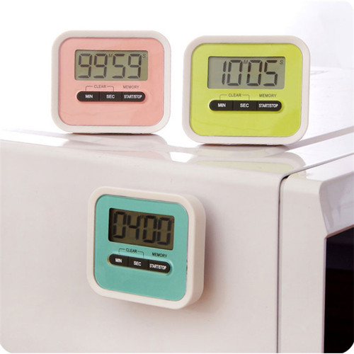 Foto Produk Timer Dapur Digital Masak Countdown Alarm Magnet Standing Gantung - Hitam Putih dari Gadget Therapy