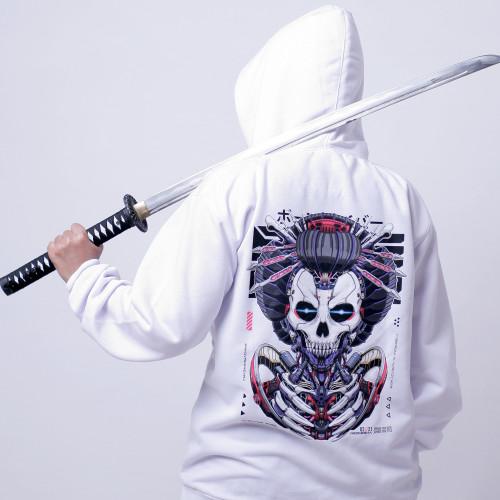 Foto Produk Bonecybr NEOGEISHA: Unisex Jumper Hoodie_Putih - M dari BONECYBR Official