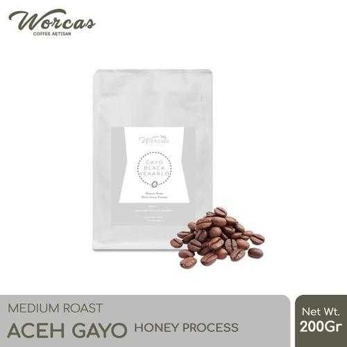 "Foto Produk Kopi Arabica Aceh Gayo ""Honey"" 200 Gram Medium Roast (Biji/Bubuk) - KOPI BIJI dari WORCAS COFFEE"