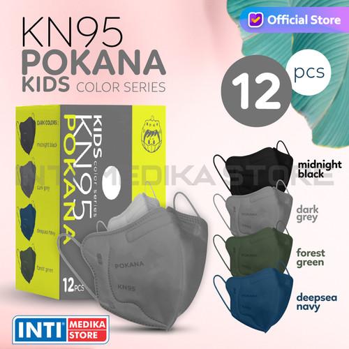 Foto Produk POKANA - Masker Anak Earloop 6 Ply KN95   Masker KN95 Anak Earloop - Midnight Black dari INTI MEDIKA STORE