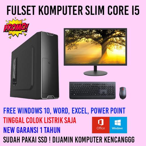 Foto Produk Pc Komputer i5 Fulset Slim Garansi - Ram 4gb dari jual komputer bagus