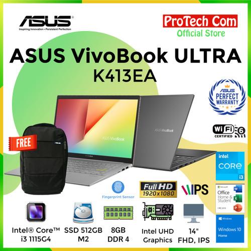 """Foto Produk LAPTOP ASUS K403FA - i3 8145U 4GB SSD 512GB INTEL HD 14"""" FHD W10 RESMI dari Protech Computer"""