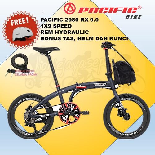 "Foto Produk Sepeda lipat Pacific 20"" 2980 RX 9.0 VT HYDRAULIC BONUS TAS DAN KUNCI - REFLECTIVE GREY dari toko sepeda hokie jaya"