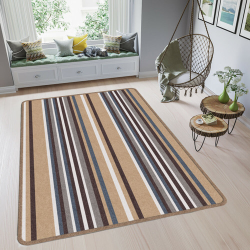 Foto Produk ARTSY Karpet Skyline Motif Garis Anti Slip - 100 x 150 cm - Beige dari ARTSY OFFICIAL STORE