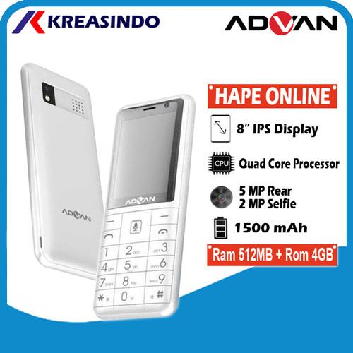 Foto Produk Advan Hp Online KaiOS Indosat Garansi Resmi - Hitam dari Kreasindo Online