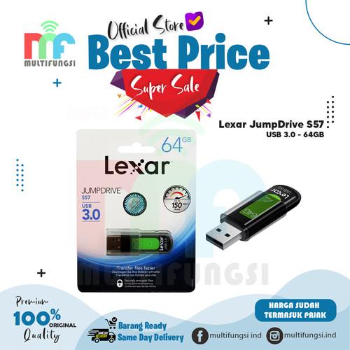 Foto Produk Lexar JumpDrive S57 64GB USB 3.0 FlashDisk / FlashDrive Original dari Multifungsi Online