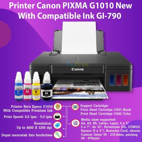 Foto Produk Printer Canon Pixma G1010 Ink Tank Infus Inkjet Garansi Resmi Canon - Compatible Ink dari FixPrint Indonesia
