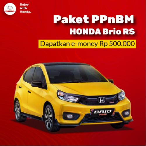 Foto Produk New Honda Brio RS 2021 - Paket Relaksasi PPnBM 100% dari Honda Bintang Madiun