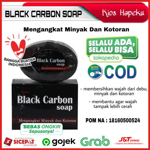 Foto Produk Black Carbon Soap/Sabun Batang BPOM Anti Minyak Dan Kotoran dari kios hapeku