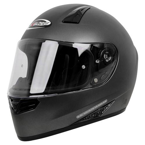 Foto Produk Helm Cargloss Full Face Original CK CR - Gun Metal SG - XL dari Helm Cargloss