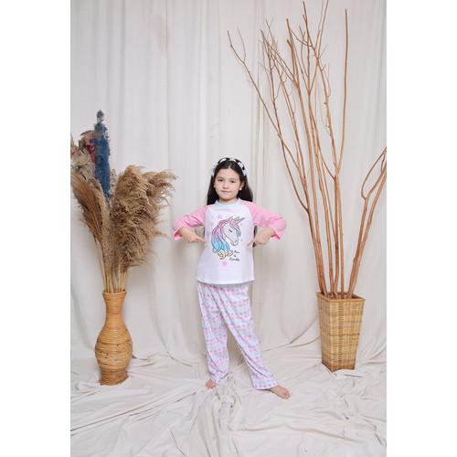 Foto Produk Piyama Anak Long Shirts Unicorn Born To Sparkle LSLP103 - 4 dari Boboo Kids