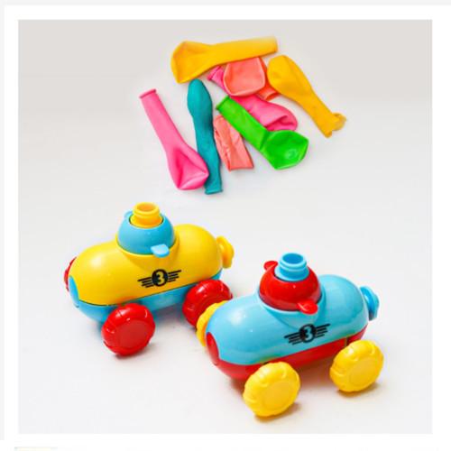 Foto Produk Mainan Anak Pompa Balon Roket dan Mobil - Air Pressure Power Car - 2Mbl 10 Balon dari G Army Official Shop