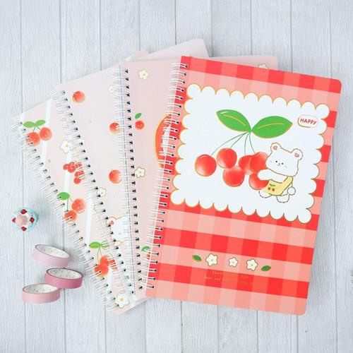 Foto Produk Cherry Baby Spiral Ruled Notebook B5 dari Pinkabulous