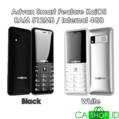Foto Produk Advan Hape Online Smart Feature Phone KaiOS Indosat Garansi Resmi - White dari CA Shop