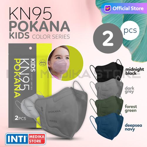 Foto Produk POKANA - Masker Anak Earloop 6 Ply KN95 | Masker KN95 Anak Medis - Dark Grey dari INTI MEDIKA STORE